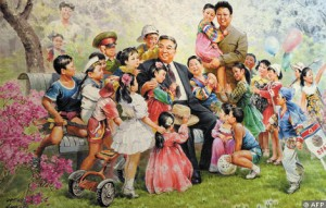 The family of the 'Great Leader' with children.